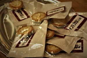 Mince pies for the give away in Sheffield 2016